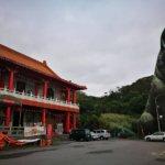 「十八王公廟」に仙台観音のペットにできそうなくらいクソデカい忠犬の像があるよ